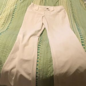 White flare dress pants